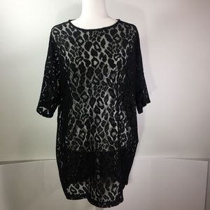 ASOS Black Cheetah Lace Dress Size Size 16